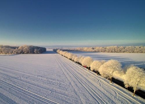 Landstrasse im Winter