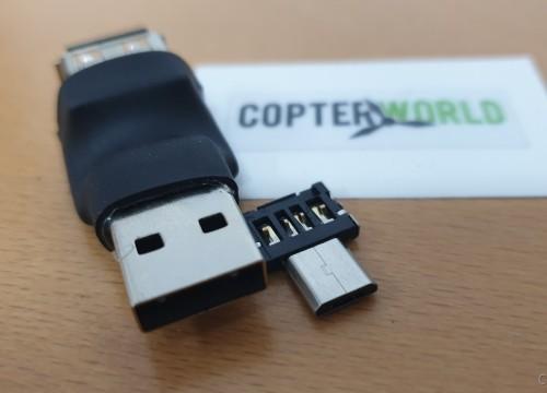 USB Zwischenstecker mit Mico USB Inlay