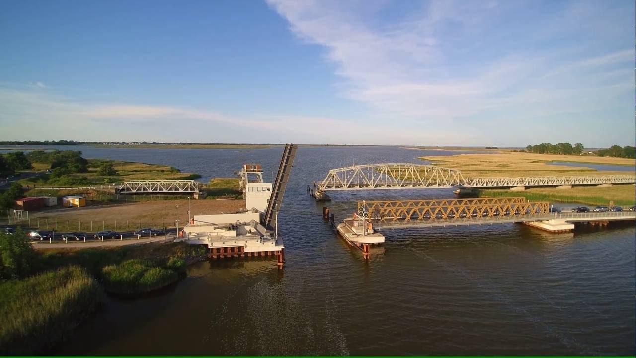 Meinigenbrücke -Verbindung zwischen Festland und Fischland/Darss