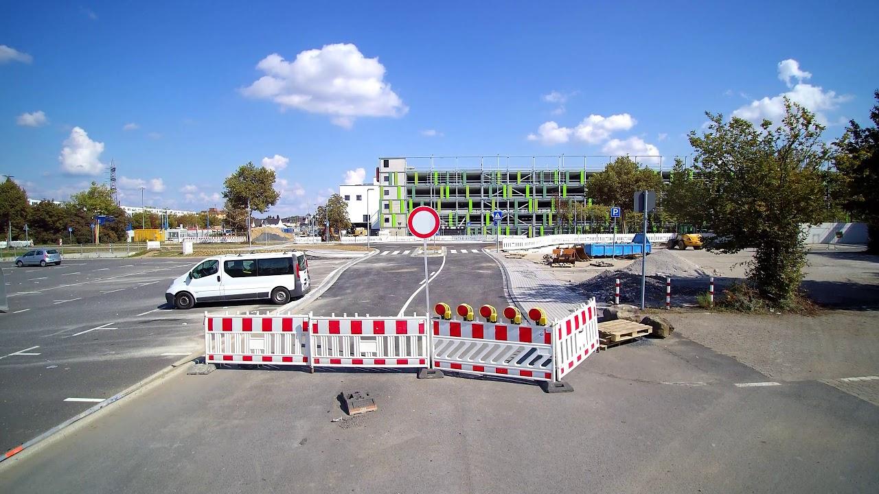 Der Kreisverkehr am Huma Parkhaus